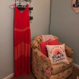 Urban Outfitters Orange Sundress